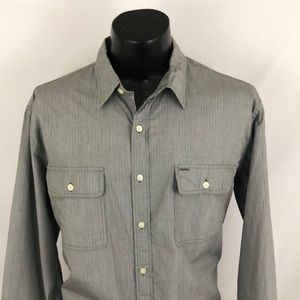 J. Crew Washed Casual Button Up Shirt Gray XL